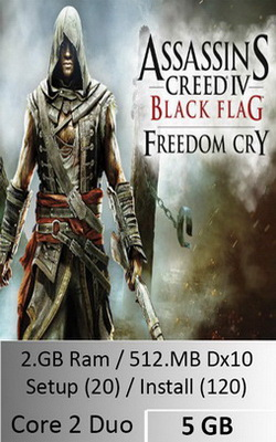 Assassins Creed Freedom Cry  [ 5 GB ]